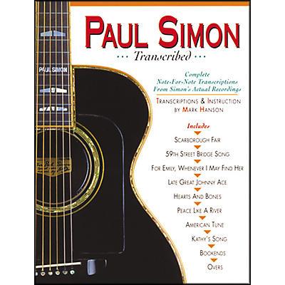 Music Sales PAUL SIMON TRANSCRIBED