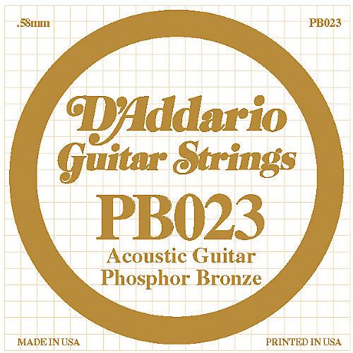 D'Addario PB023 Phosphor Bronze Acoustic Guitar String