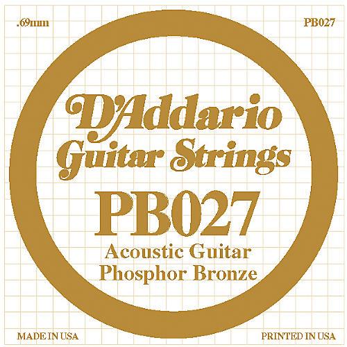 D'Addario PB027 Phosphor Bronze Guitar Strings