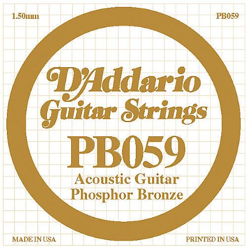 D'Addario PB059 Single Phosphor Bronze String