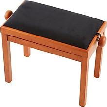PB39 Adjustable-Height Piano Bench Black Velvet Top Cherry Matte Finish