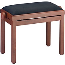 PB39 Adjustable-Height Piano Bench Black Velvet Top Mahogany Matte Finish