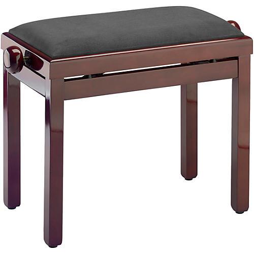 Musician's Gear PB39 Adjustable-Height Piano Bench Black Velvet Top Mahogany Polished Finish
