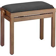 PB39 Adjustable-Height Piano Bench Black Velvet Top Walnut Matte Finish