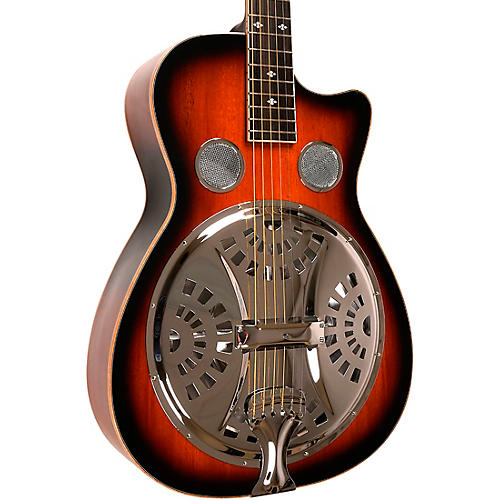 Gold Tone PBR-CA Paul Beard Signature-Series Roundneck Resonator Guitar with Cutaway Tobacco Sunburst