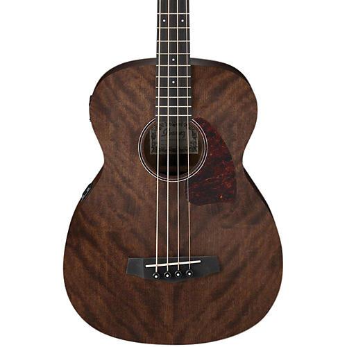 Ibanez PCBE12 Grand Concert Acoustic-Electric Bass Guitar Open Pore Natural Mahogany Top