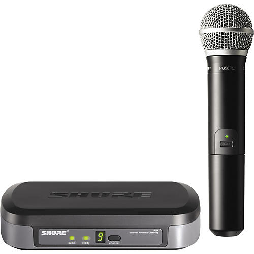 shure pg24 pg58 performance gear wireless handheld microphone system musician 39 s friend. Black Bedroom Furniture Sets. Home Design Ideas