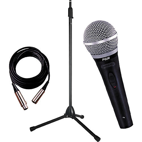 Shure PG58 Microphone and Stand Package
