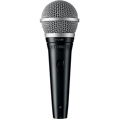 "Shure PGA48-QTR Vocal Microphone with XLR to 1/4"" Cable"
