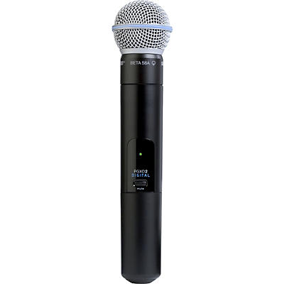 Shure PGXD2/Beta58A Handheld Transmitter with Beta 58A Mic