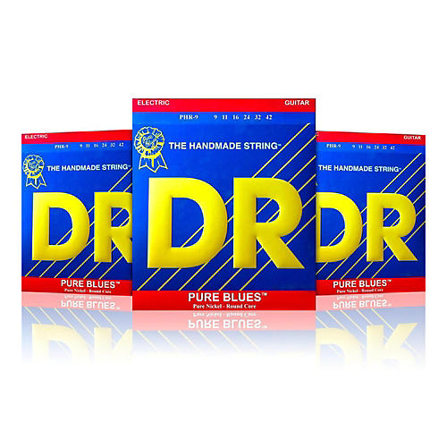 DR Strings PHR-9 Light Pure Blues Electric Strings - Buy 2, Get 1 Free