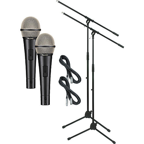 Electro-Voice PL24S with Cable and Stand 2 Pack