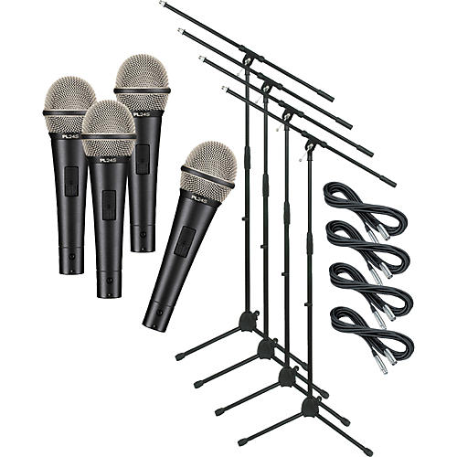 Electro-Voice PL24S with Cable and Stand 4 Pack