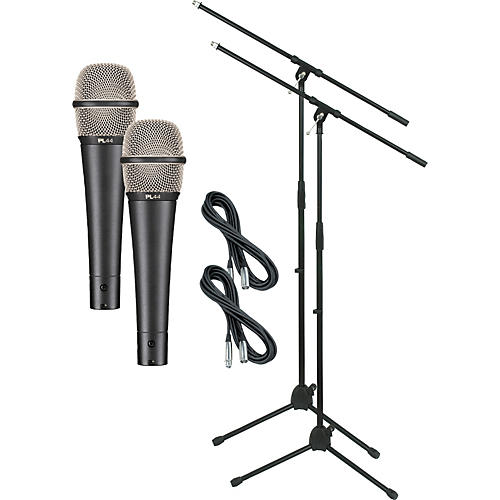 Electro-Voice PL44 with Cable and Stand 2 Pack
