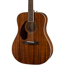 Open BoxFender PM-1 Dreadnought All-Mahogany Left-Handed Acoustic Guitar