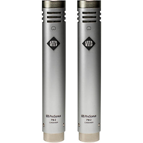 Presonus PM-2 Matched Stereo Pair of Small-Diaphragm Cardioid Condenser Microphones