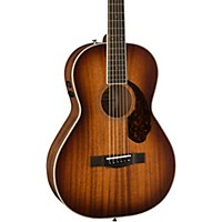 MusiciansFriend.com deals on Fender Parlor Limited All-Mahogany Acoustic-Electric Guitar