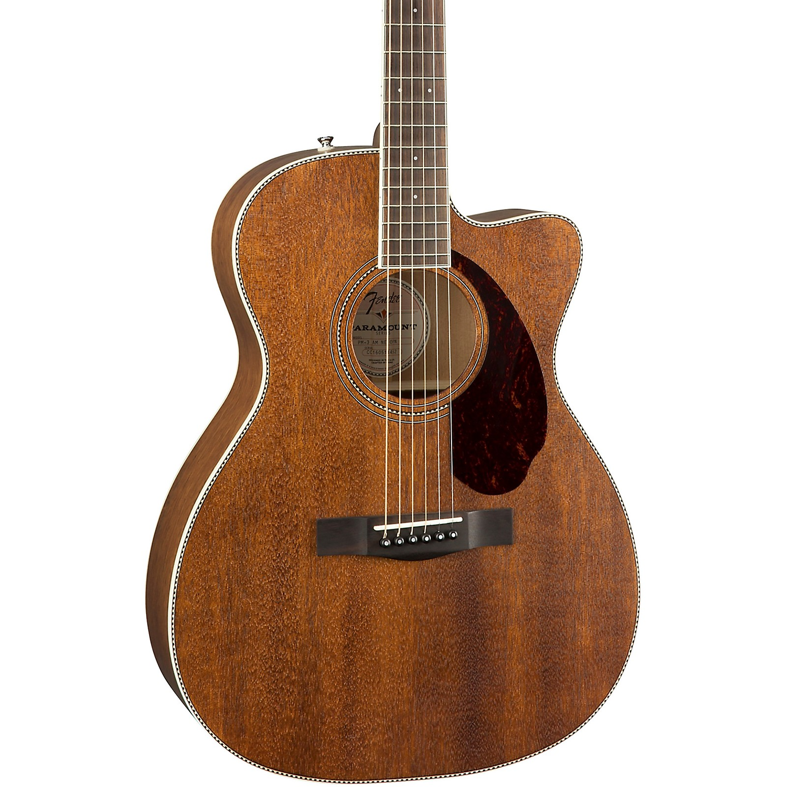 Fender PM-3 Standard Triple-0 All-Mahogany Acoustic Guitar
