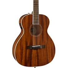 Open BoxFender PM-TE Travel All-Mahogany Acoustic-Electric Guitar