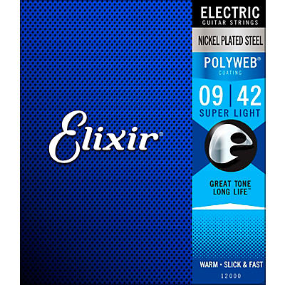 Elixir POLYWEB Super Light (9-42) Electric Guitar Strings