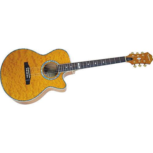 Epiphone PR-6E Quilt Top Acoustic-Electric Guitar