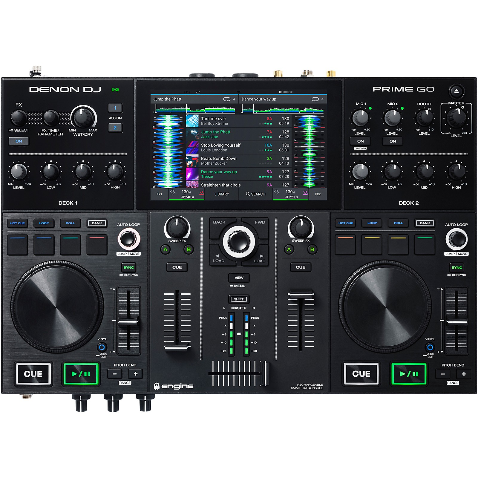 Denon PRIME GO Rechargeable 2-Channel Standalone DJ Controller
