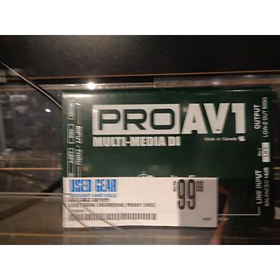 Radial Engineering PROAV1 Direct Box