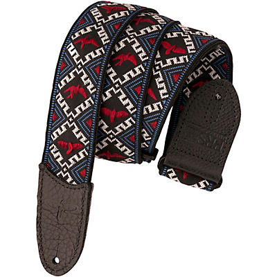 PRS PRS Jacquard Hootenanny Style Guitar Strap, Red, White & Blue Birds