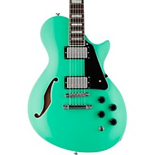 PS-1 Xtone Paramount Series Semi-Hollow Electric Guitar Sea Foam Green Black Pickguard