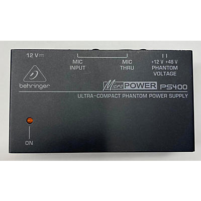 Behringer PS400 MICRO POWER PHANTOM PWR SUPPLY Power Supply