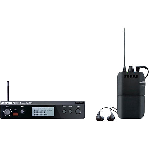 Shure PSM 300 Wireless Personal Monitoring System With SE112-GR Earphones Condition 1 - Mint Band G20 Gray