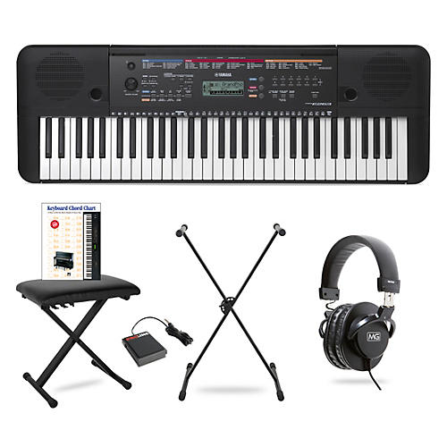Yamaha PSR-E263 61-Key Portable Keyboard Package