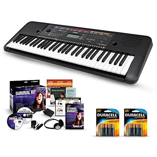 yamaha psr e263 61 key portable keyboard packages essentials package musician 39 s friend. Black Bedroom Furniture Sets. Home Design Ideas