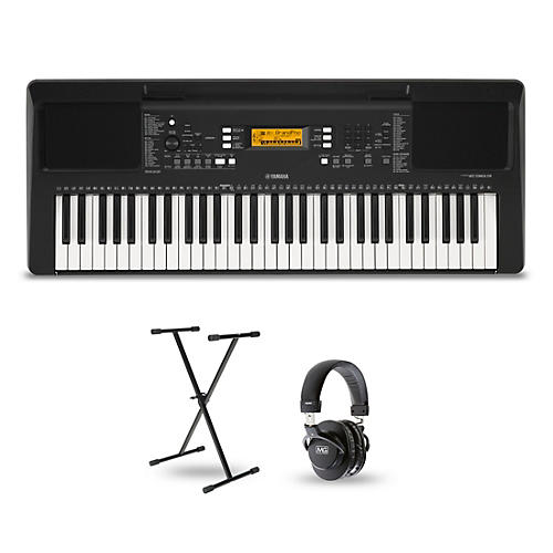 PSR-E363 61-Key Portable Keyboard Package