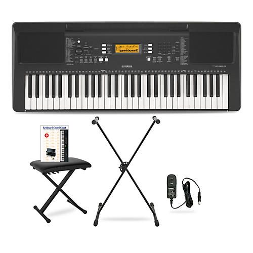 Yamaha PSR-E363 61-Key Portable Keyboard Package