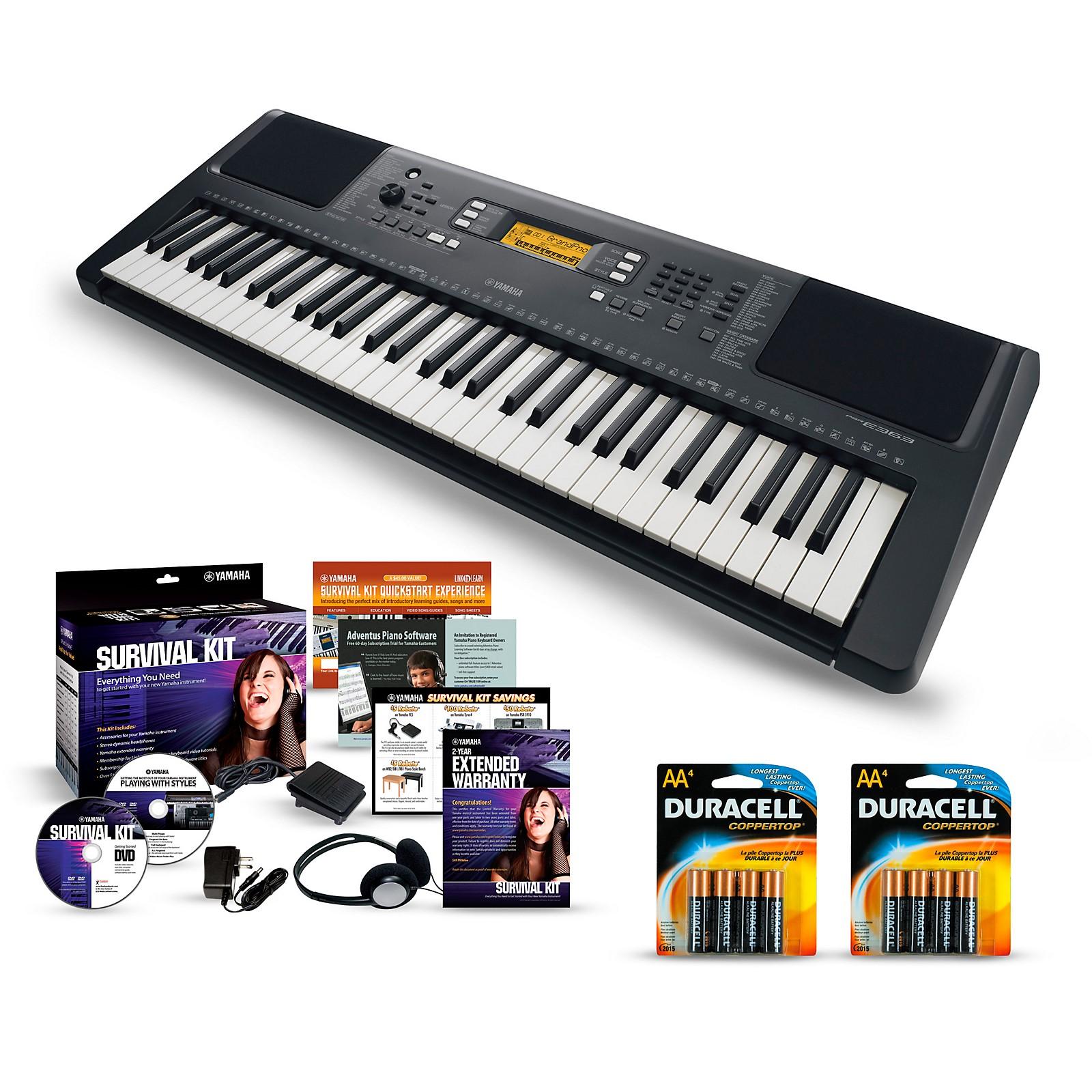 Yamaha PSR-E363 61-Key Portable Keyboard Packages
