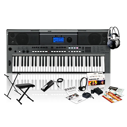 Yamaha PSR-E443 with M80 MkII, Bench, Stand & Sustain Pedal