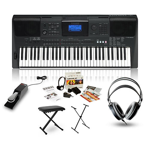 yamaha psr e453 portable keyboard package musician 39 s friend. Black Bedroom Furniture Sets. Home Design Ideas