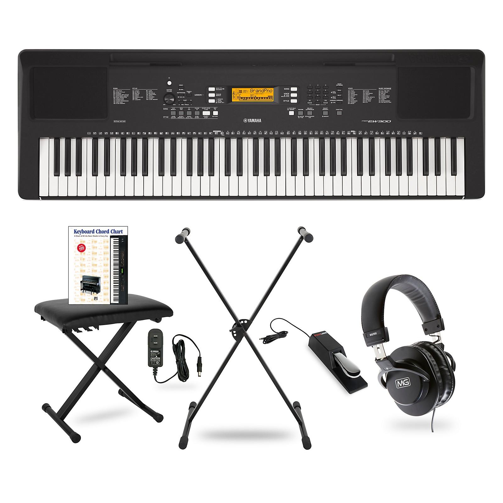 Yamaha PSR-EW300 76-Key Portable Keyboard Package