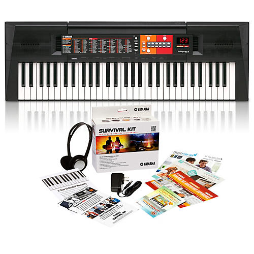 Yamaha PSR-F51HS 61-Key Portable Keyboard with Survival Kit A2