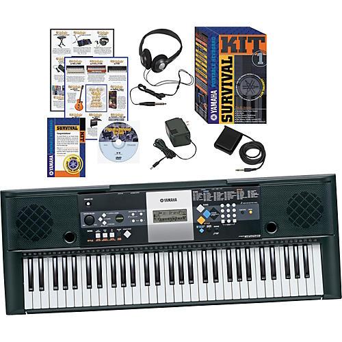 yamaha psre223 61key portable keyboard with survival kit musician 39 s friend. Black Bedroom Furniture Sets. Home Design Ideas