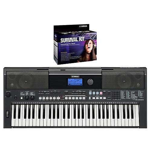 Yamaha PSRE433 Portable Digital Piano with Yamaha D2 Survival kit