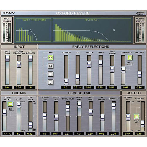 Sony PTL-REVG2 Oxford Reverb for Pro Tools LE