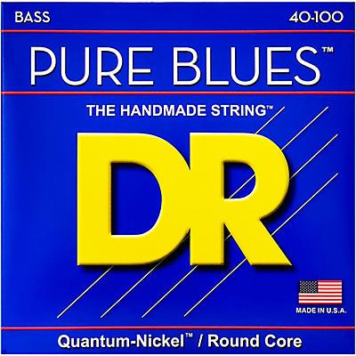 DR Strings PURE BLUES Lite 4-String Bass Strings (40-100)