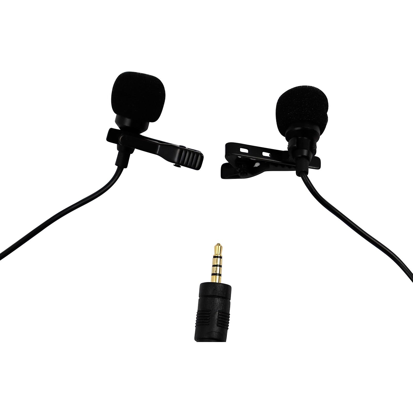 BK Media PV550-C Dual-Head Lavalier Microphone