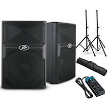 "Peavey PVXp 10 10"" Powered Speaker Pair and Power Strip"