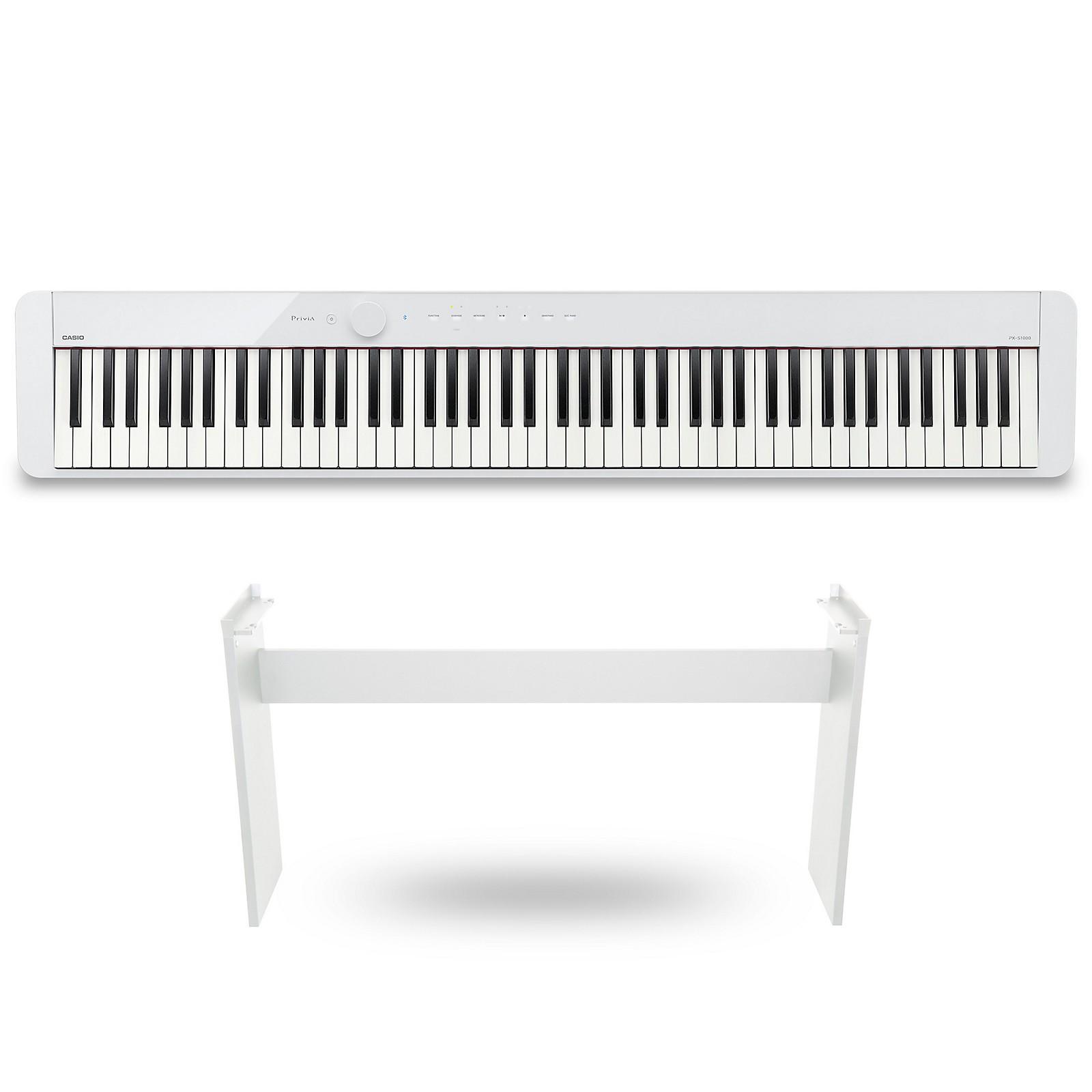 Casio PX-S1000 Privia Digital Piano White With CS68 Stand