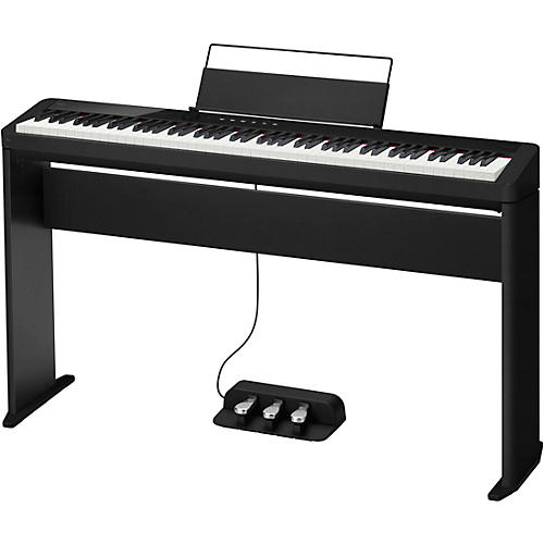Casio PX-S1100 Privia Digital Piano with CS-68 Stand and SP-34 Pedal Black