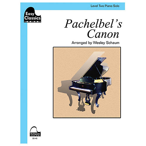 SCHAUM Pachelbel's Canon Educational Piano Book by Johann Pachelbel (Level 2)