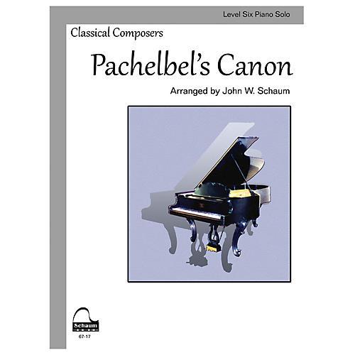 SCHAUM Pachelbel's Canon (Schaum Level Six Piano Solo) Educational Piano Book by Johann Pachelbel